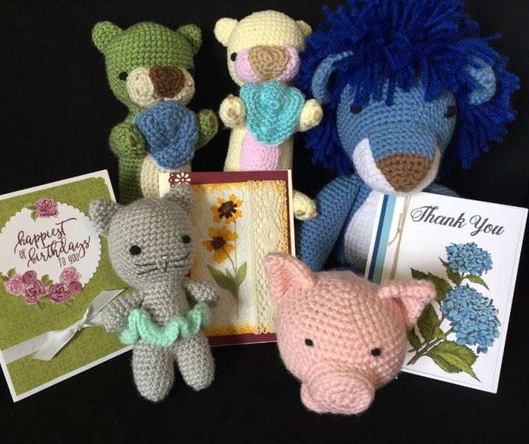 Handmade crochet stuffed-animals