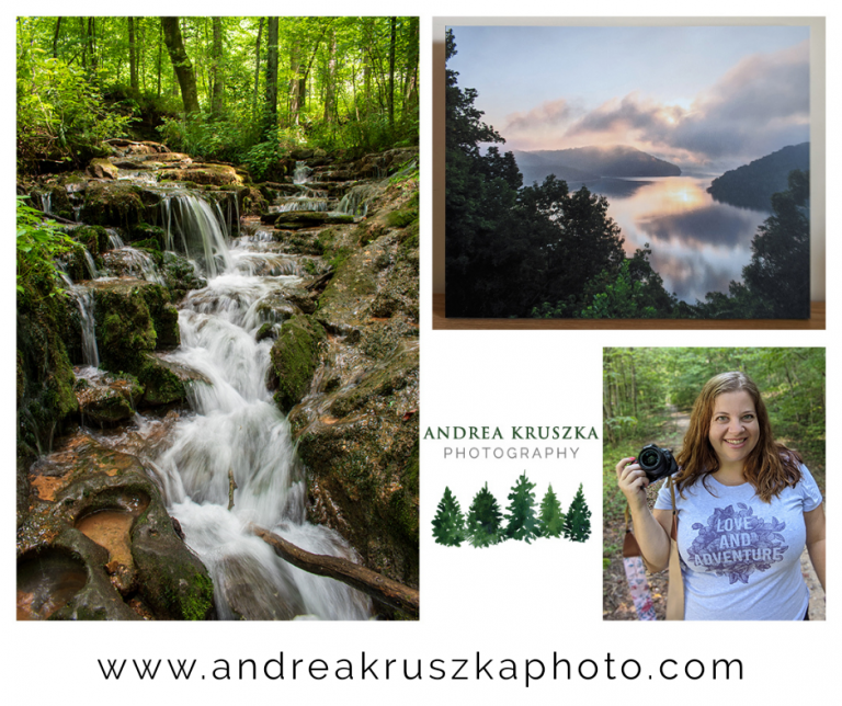 Andrea Kruska Photography featuring waterfalls and landscapes of Tennessee