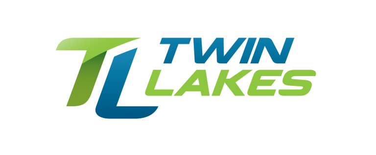 Twin Lakes internet provider logo in green and blue