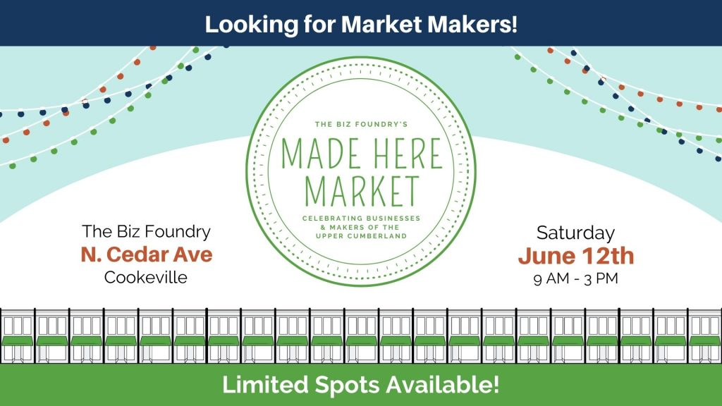 Made Here Market Banner for June 12th from 9 a.m. to 3 p.m.