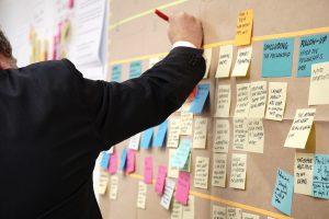 Project management kanban board